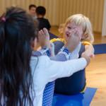 2 Kids Practicing Yoga