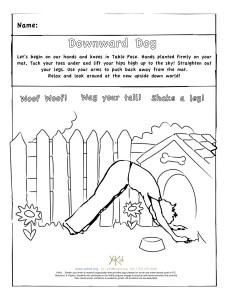 downdog coloring sheet